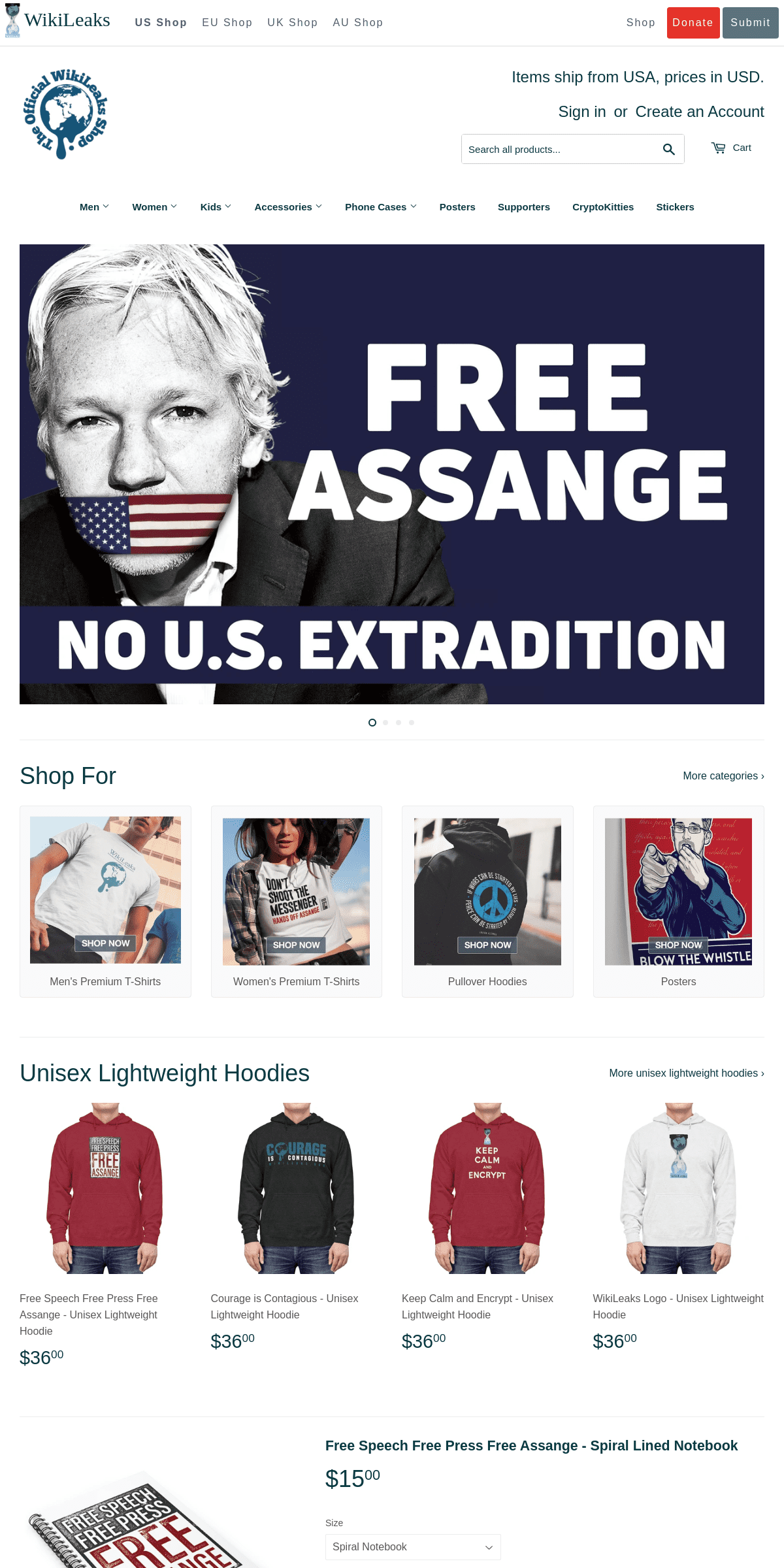 WikiLeaks Shop