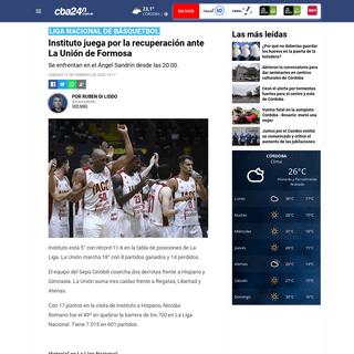 ArchiveBay.com - www.cba24n.com.ar/deportes/instituto-juega-por-la-recuperacion-ante-la-union-de-formosa_a5e48277cff38485d2fd42c15 - Instituto juega por la recuperación ante La Unión de Formosa - Cba24n - Noticias de Córdoba