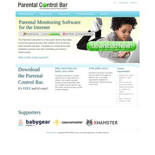 Parental Control Bar - Home Page