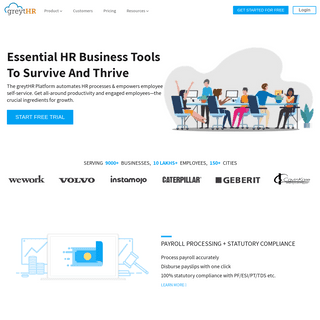 Payroll and HR Software India - Best HR Solution - greytHR
