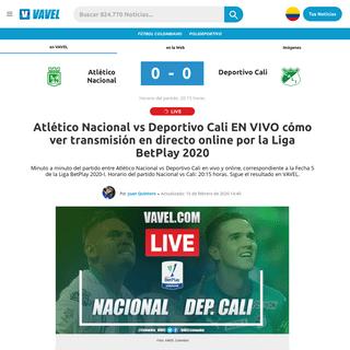 ArchiveBay.com - www.vavel.com/colombia/futbol-colombiano/2020/02/15/deportivo-cali/1013730-atletico-nacional-vs-deportivo-cali-en-vivo-online-por-la-liga-betplay-2020.html - Atlético Nacional vs Deportivo Cali EN VIVO cómo ver transmisión en directo online por la Liga BetPlay 2020 - 15-02-2020 - VA