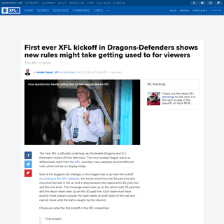 ArchiveBay.com - www.cbssports.com/xfl/news/first-ever-xfl-kickoff-in-dragons-defenders-shows-new-rules-might-take-getting-used-to-for-viewers/ - First ever XFL kickoff in Dragons-Defenders shows new rules might take getting used to for viewers - CBSSports.com