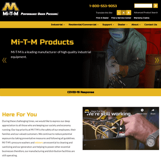 Mi-T-M Hot Water Pressure Washers and Cold Water Pressure Washers