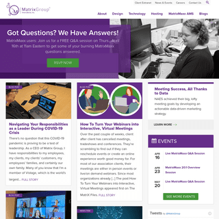 Matrix Group - Digital Agency specializing in User Focused Web Design and Development, Membership Databases, Washington DC