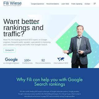 Fili- SEO expert, ex-Google engineer & speaker