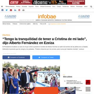 """""""Tengo la tranquilidad de tener a Cristina de mi lado"""", dijo Alberto Fernández en Ezeiza - Infobae"""
