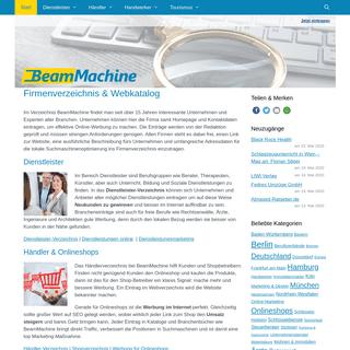 Firmenverzeichnis & Webkatalog online seit 2004 - BeamMachine