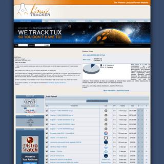 Linuxtracker .--. The Premier Linux Bittorrent Website