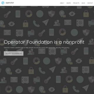 Operator Foundation