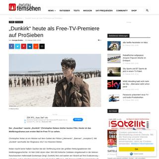 """-Dunkirk"""" heute als Free-TV-Premiere auf ProSieben - DIGITAL FERNSEHEN"""