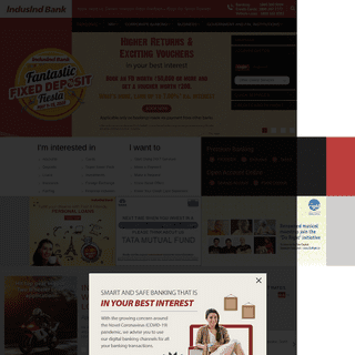 ArchiveBay.com - indusind.com - Personal Banking, NRI Banking, Personal Loan & Home Loans - IndusInd Bank