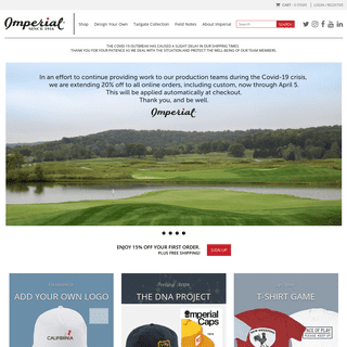Imperial Headwear - Golf Hats, Visors and Apparel