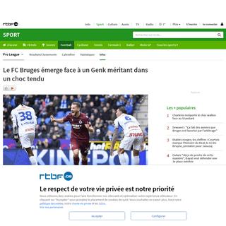 Le FC Bruges émerge face à un Genk méritant dans un choc tendu