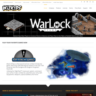 WizKids - Dedicated to creating games driven by imagination