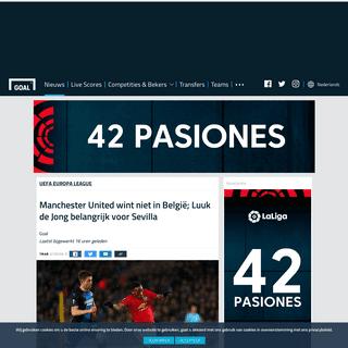 Manchester United wint niet in België; Luuk de Jong belangrijk voor Sevilla - Goal.com