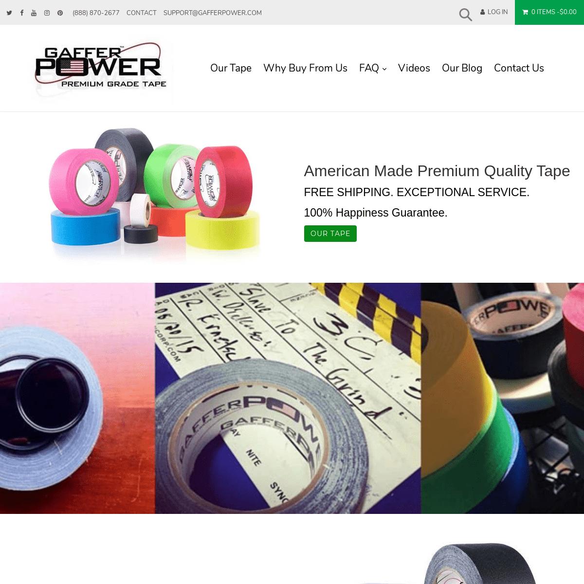 Premium Grade Professional Gaffer Tape and Tools – Gaffer Power