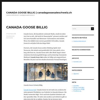 CANADA GOOSE BILLIG - canadagoosesaleschweiz.ch – CANADA GOOSE BILLIG - canadagoosesaleschweiz.ch