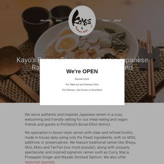 Kayo's Ramen Bar