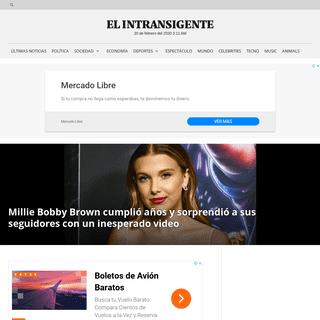 ArchiveBay.com - elintransigente.com/celebrities/2020/02/19/millie-bobby-brown-cumplio-anos-y-sorprendio-a-sus-fans-con-un-inesperado-video/ - Millie Bobby Brown cumplió años y sorprendió a sus seguidores con un inesperado video - El Intransigente