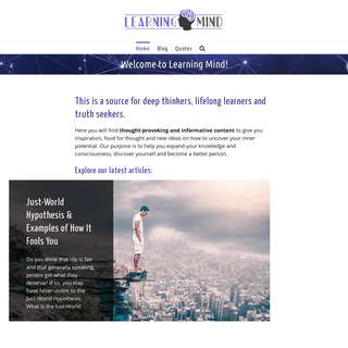Learning Mind – Expand your mind with lifelong learning