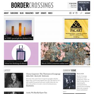 Border Crossings Magazine