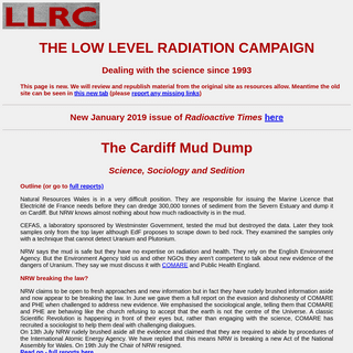 Low Level Radiation Campaign