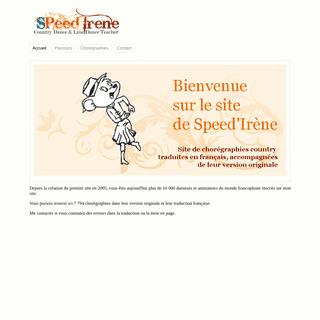 Speed Irene - Accueil