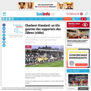 Charleroi-Standard- un tifo guerrier des supporters des Zèbres (vidéo)