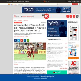 ArchiveBay.com - jconline.ne10.uol.com.br/canal/esportes/nautico/noticia/2020/02/01/acompanhe-o-tempo-real-de-freipaulistano-x-nautico-pela-copa-do-nordeste-398776.php - Acompanhe o Tempo Real de Freipaulistano x Náutico pela Copa do Nordeste - Jornal do Commercio