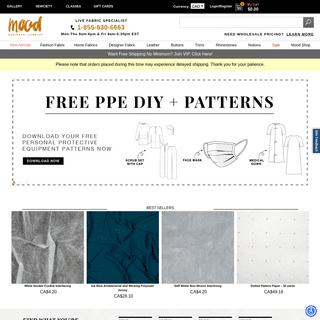 Mood Fabrics - Online Fabric Store - Buy Wholesale & Save