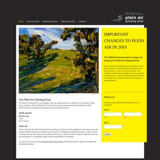 The University of Notre Dame Australia Plein Air Painting Prize