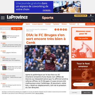 D1A- le FC Bruges s'en sort encore très bien à Genk - Édition digitale de Mons