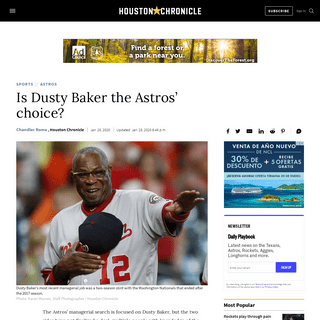 Is Dusty Baker the Astros' choice- - HoustonChronicle.com