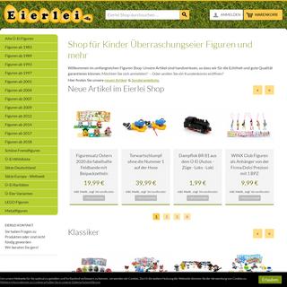 Eierlei Shop - Ü-Ei online Shop auf Eierlei.de der umfangreiche Shop Ü-Eier