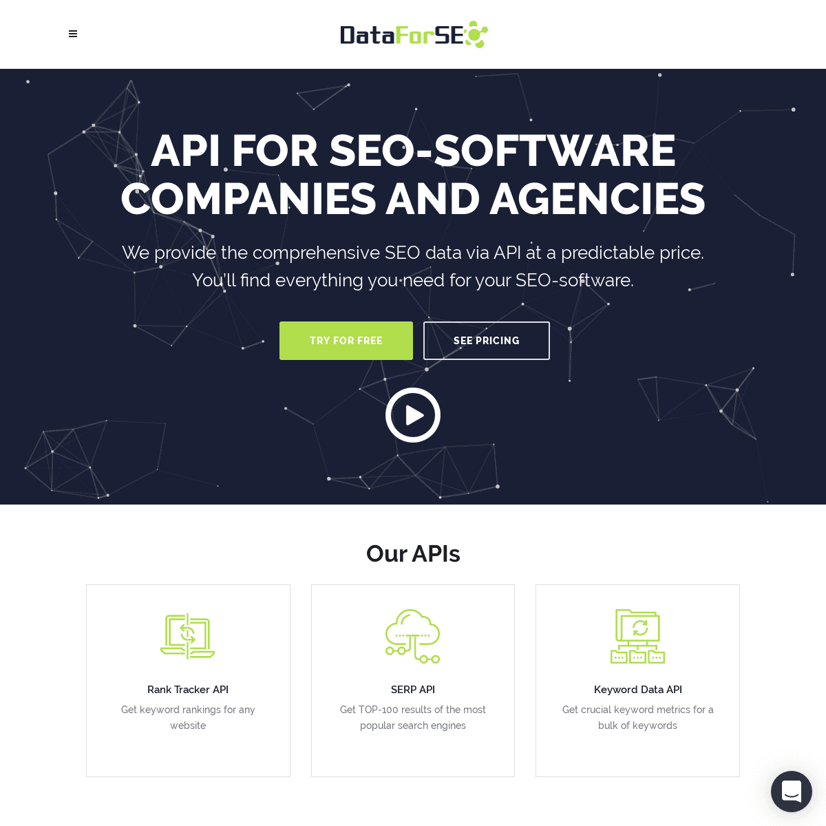 SEO software API ⓴⓴. API for agencies. Best SEO data API provider.
