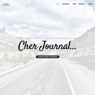 Cher Journal, blog voyage 2019 - Backpacking & Roadtrip