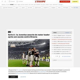 Serie A- la Juventus assurée de rester leader après son succès contre Brescia - Foot - ITA - L'Équipe