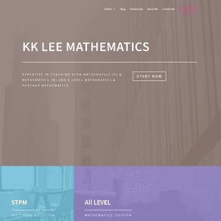 KK LEE Mathematics - Best Mathematics Tuition Teacher
