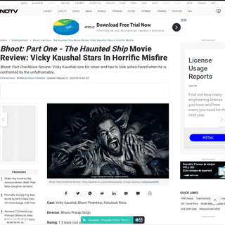 ArchiveBay.com - www.ndtv.com/entertainment/bhoot-part-one-the-haunted-ship-movie-review-vicky-kaushal-stars-in-horrific-misfire-1-5-stars-out-o-2183464 - Bhoot- Part One - The Haunted Ship Movie Review- Vicky Kaushal Stars In Horrific Misfire - 1.5 Stars (Out Of 5)