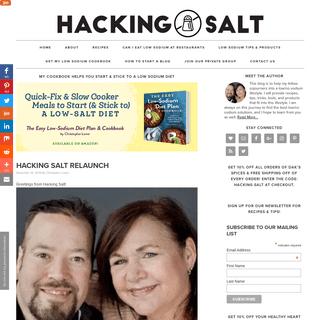 Hacking Salt - Lose Salt, Not Taste