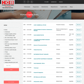 HCB - Recruitment in Azerbaijan