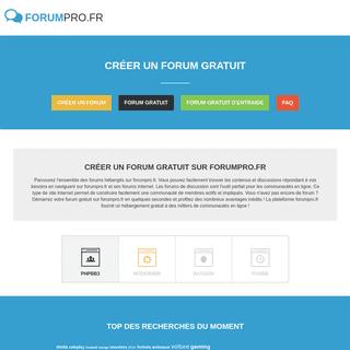 Créer un forum - forumpro.fr
