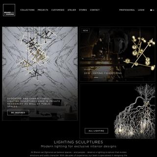 Lighting Sculptures and Modern Lighting - Brand van Egmond -