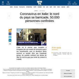 ArchiveBay.com - www.bfmtv.com/international/coronavirus-en-italie-le-nord-du-pays-se-barricade50-000-personnes-confinees-1862572.html - Coronavirus en Italie- le nord du pays se barricade,50.000 personnes confinées
