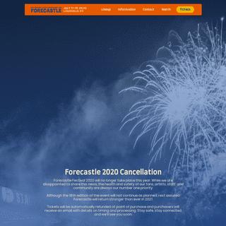 Forecastle Festival - July 17-19, 2020 - Louisville, KY