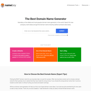 Nameboy - Best Domain Name Generator (Get Instant Ideas)