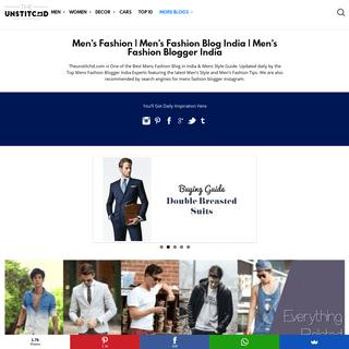 Mens Fashion Blogger India - Mens Fashion Blog India