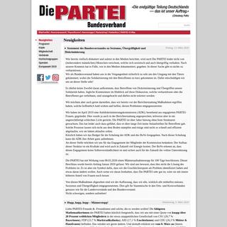 Die PARTEI - Offizielle Seite des Bundesverbands