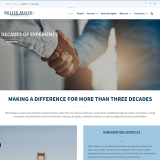 Miller Mayer Law Firm Offers a Full Array of Legal Services