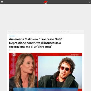 Annamaria Malipiero- -Francesco Nuti- Depressione non frutto di insuccesso o separazione ma di un'altra cosa- - BreveNews.Com